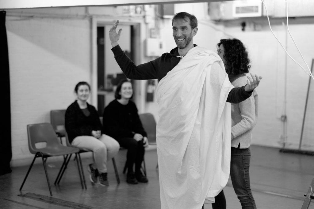 """Rehearsal for """"The Unburied. The Saint of Darkness"""" - [Foreign Affairs]"""