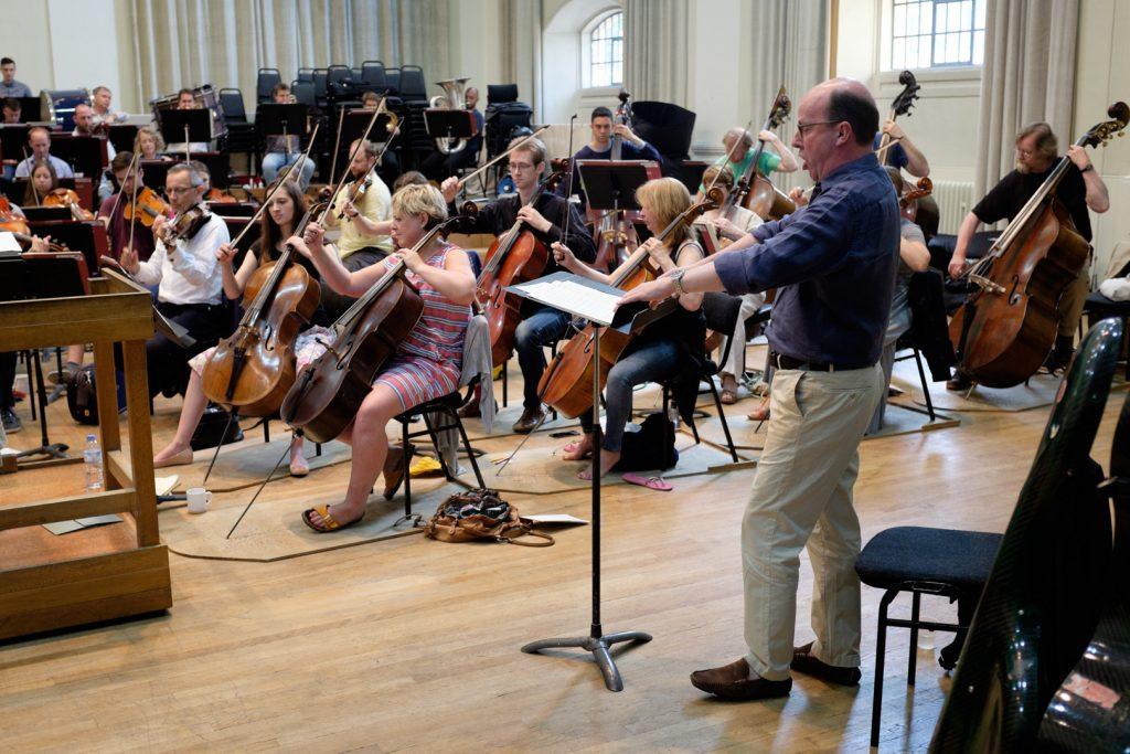 Philharmonia Orchestra rehearsal