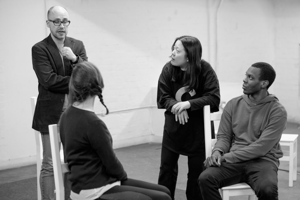Rehearsal for [Foreign Affairs] Translates! Showcase 2018