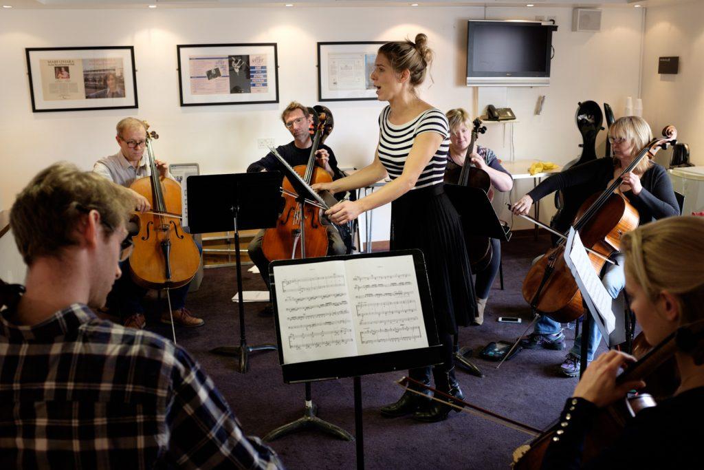 Philharmonia Orchestra's cellos rehearsal
